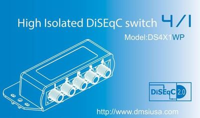 DS4X1WP 4X1 DiSEqC Switch