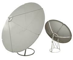 Digiwave 1.65m prime focus satellite dish
