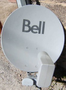 Bell TV 51cm dish with 1 dual LNBF image