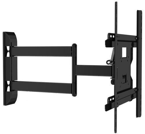 Full Motion black articulating swivel arm TV mount image